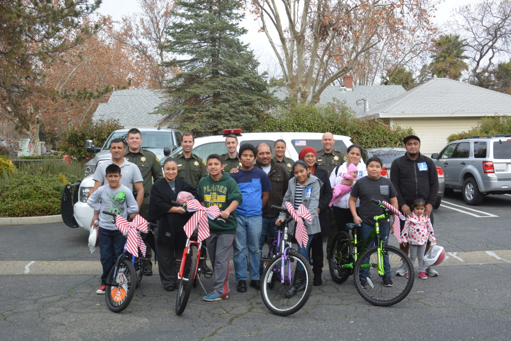 Group and families with bikes